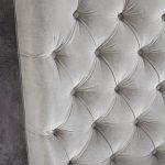 Łóżko tapicerowane styl glamour California