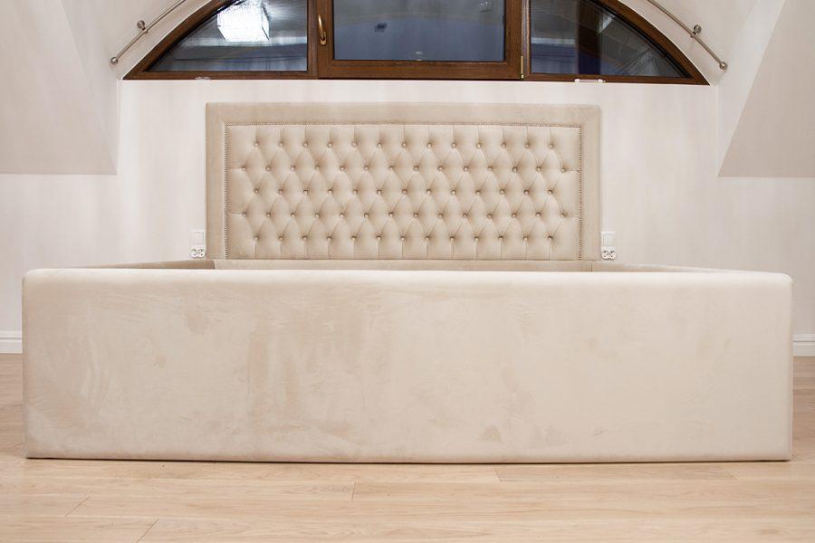 Łóżko tapicerowane styl nowojorski Manhattan