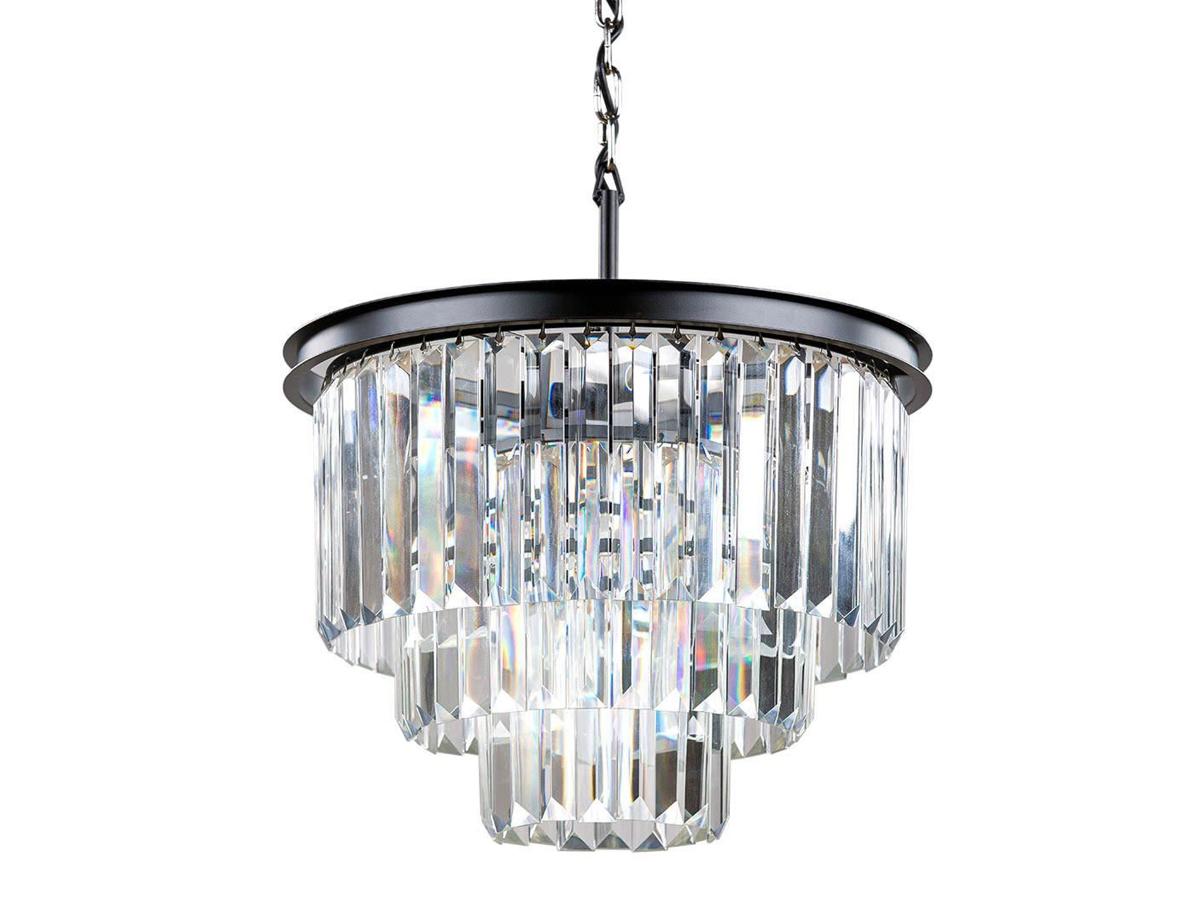 Żyrandol kryształowy Orlando to idealne oświetlenie sufitowe do salonu, holu, restauracji, hotelu. Czarna lampa sufitowa z kryształkami na zamówienie.