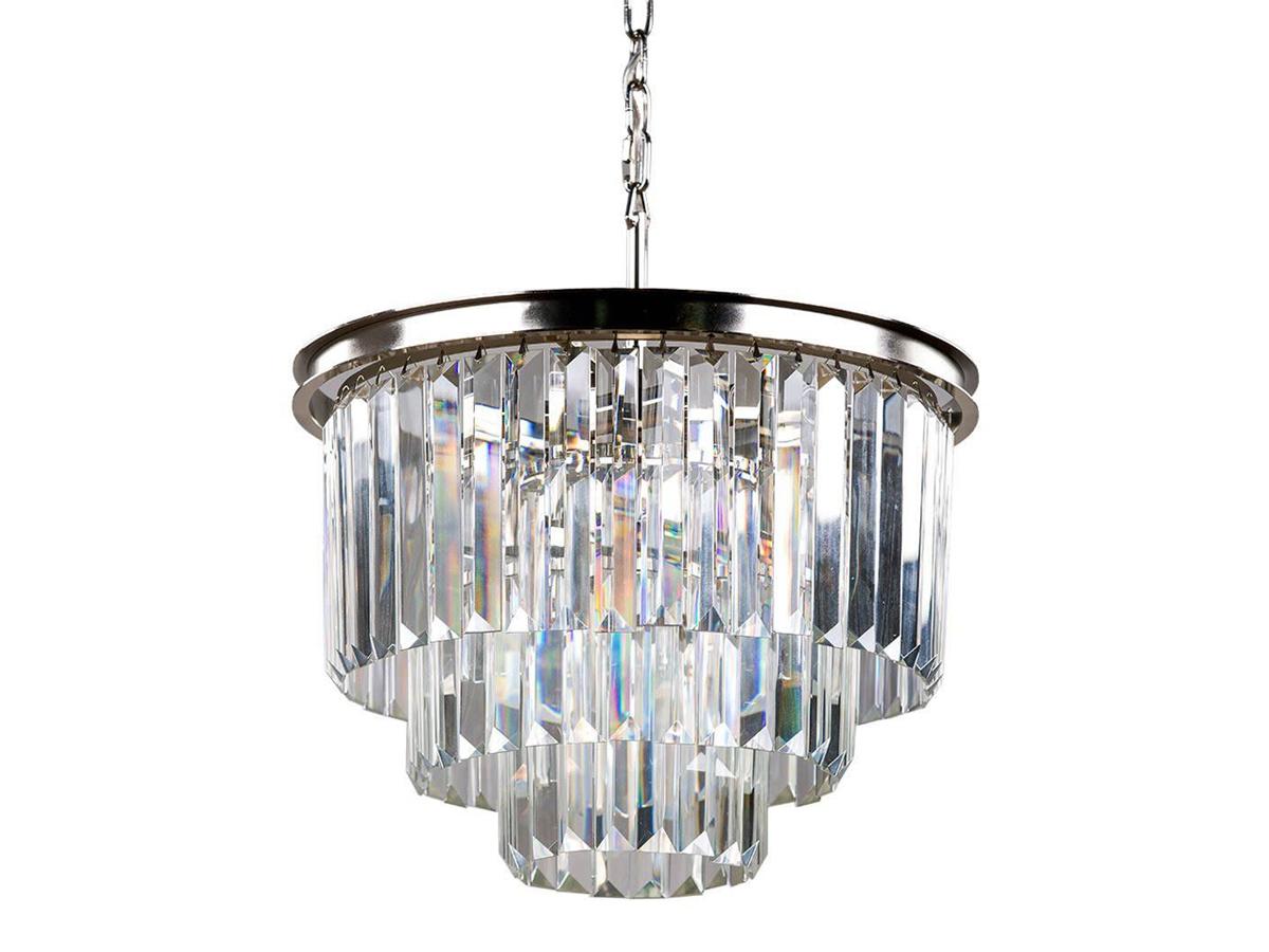 Żyrandol kryształowy Orlando to idealne oświetlenie sufitowe do salonu, holu, restauracji, hotelu. Srebrna lampa sufitowa z kryształkami na zamówienie.