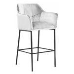 Nowoczesne krzesło Massimo do jadalni i salonu. Krzesła ze srebrnymi nogami są dostępne na zamówienie w showroomie Pasadena home & deco.