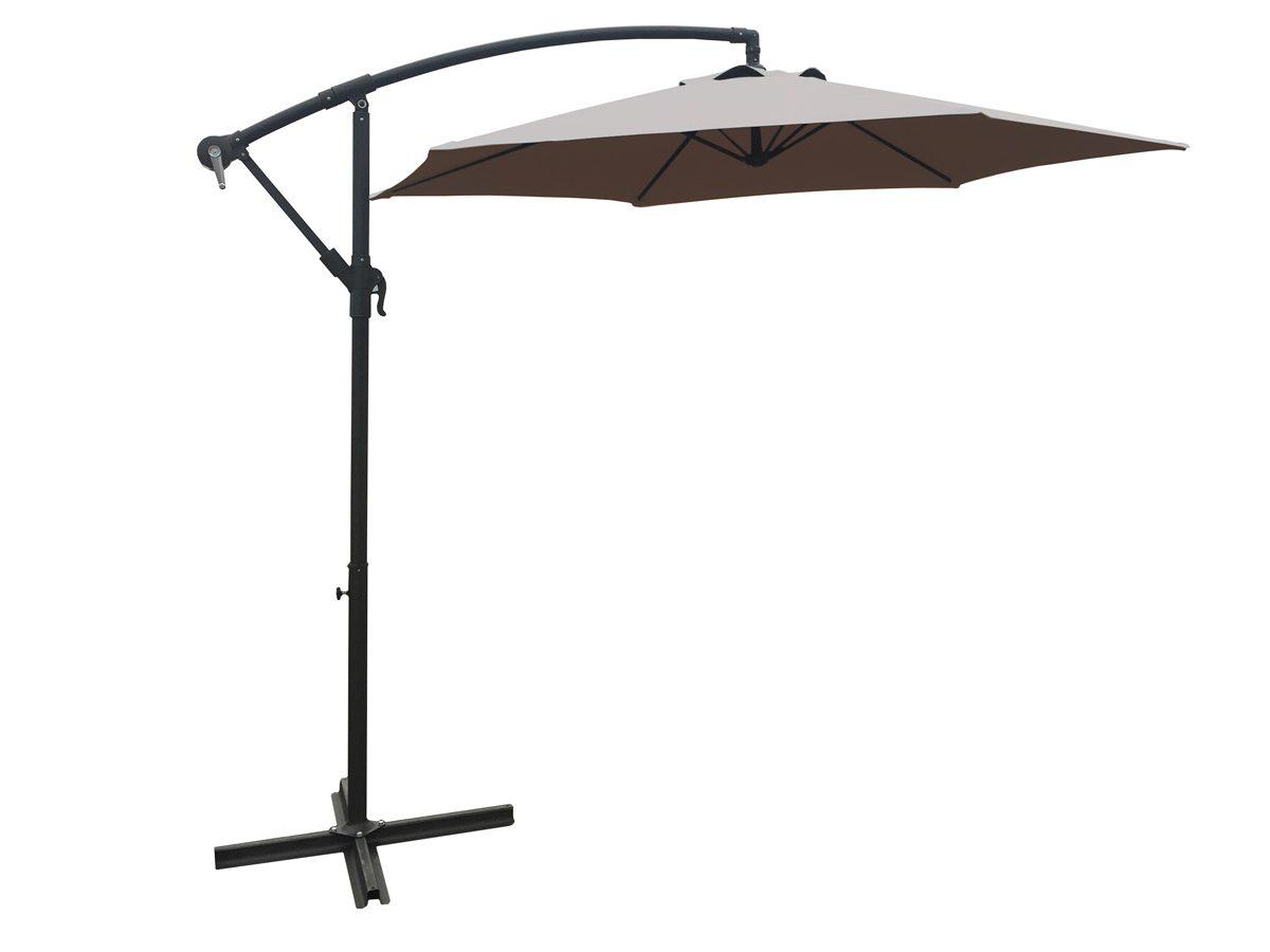 Parasol ogrodowy Ibbie osadzony na metalowym stelażu.Parasol do ogrodu i na taras będzie idealnym uzupełnieniem letniej aranżacji.