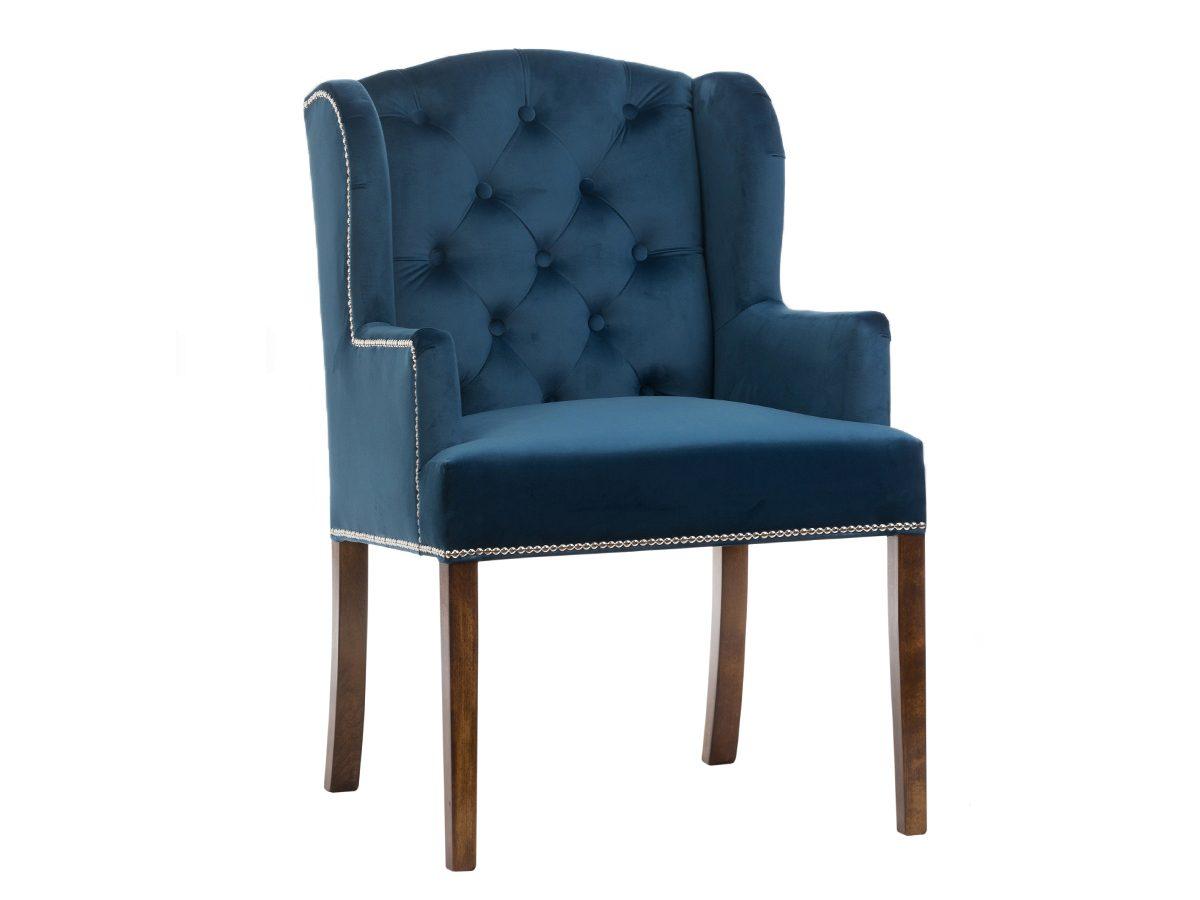 Fotel pikowany z podłokietnikami Bellini. Fotel do salonu i sypialni w stylu nowojorskim i glamour. Do wyboru materiał na fotel Białystok.