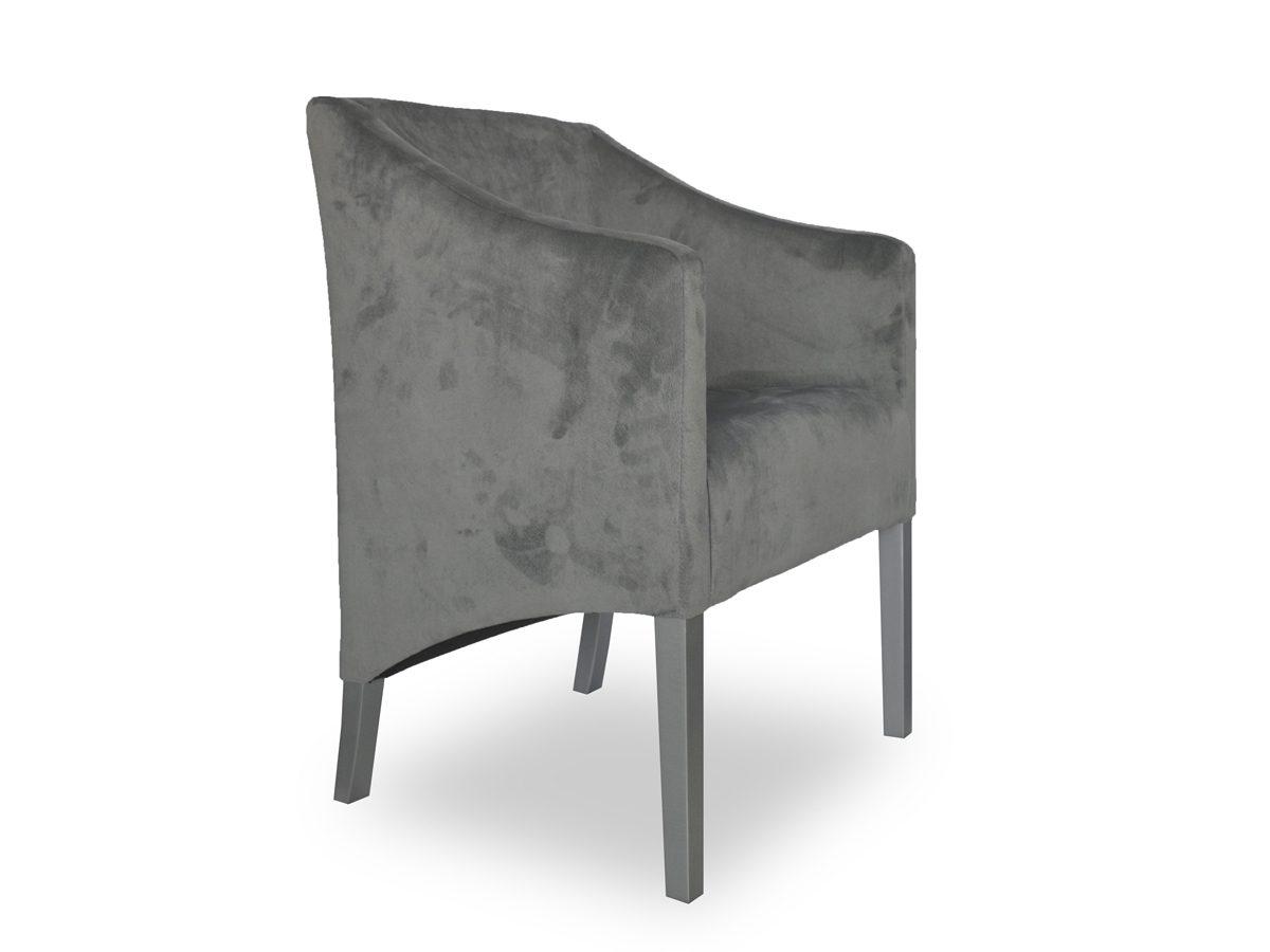 Fotel tapicerowany z podłokietnikami Como Skośny. Możliwość wyboru rozmiaru, tkaniny i koloru nóżek. Fotele tapicerowane w stylu nowojorskim Białystok.