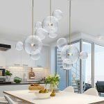 Lampa wisząca kule Bulle 3 inspirowana projektem Bubble Chandelier.Lampa sufitowa do salonu i jadalni w stylu nowoczesnym lub nowojorskim.