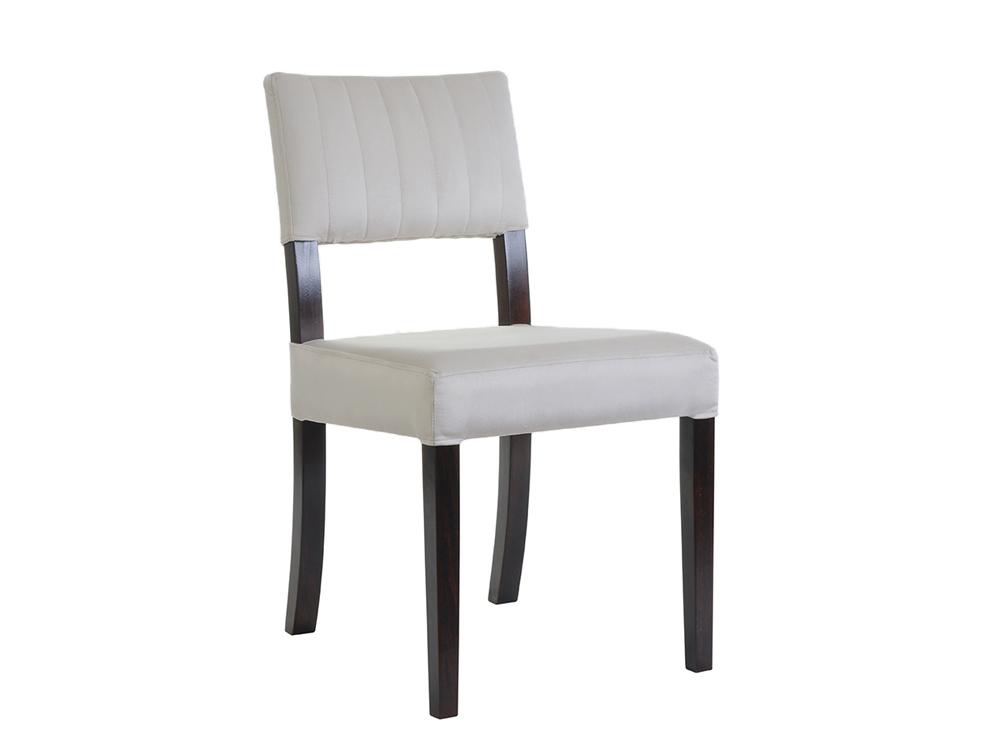 Krzesło tapicerowane z przeszyciami Vogue. Krzesło do jadalni i kuchni w stylu nowojorskim i glamour. Do wyboru materiał na krzesła Białystok.