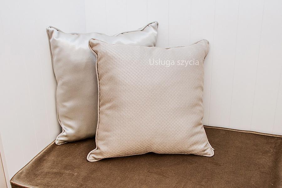 Usługa szycia poduszka na wymiar z wypełnieniem i lamówką 45x45 cm