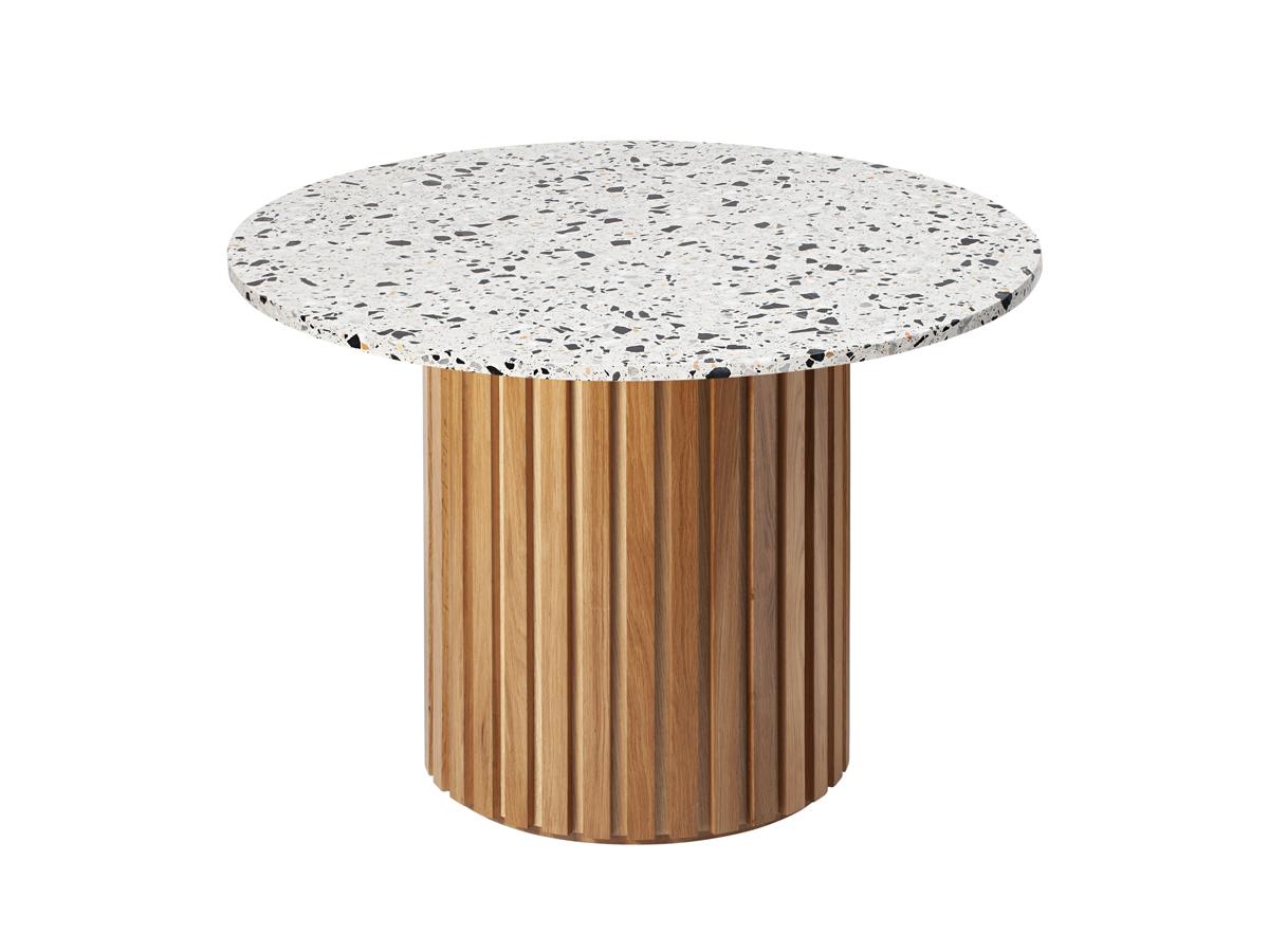 Stół okrągły Terazzo Oak. Stół pasuje do wnętrz w stylu nowoczesnym i modern classic. Polecamy także stół z marmurowym blatem.