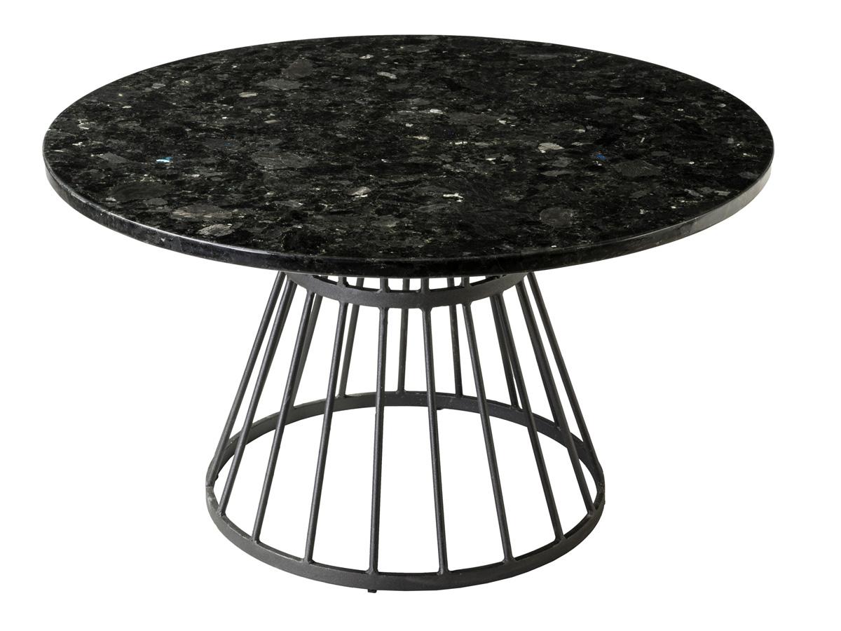 Stolik okrągły Granite Ø85cm wykonany z granitu. Stolik kawowy pasuje do wnętrz w stylu nowoczesnym i modern classic.