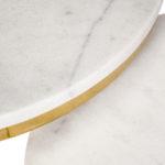 Zestaw stolików kawowych Marble. Stoliki pasują do wnętrz w stylu nowojorskim i glamour. Polecamy także okrągłe stoliki kawowe.