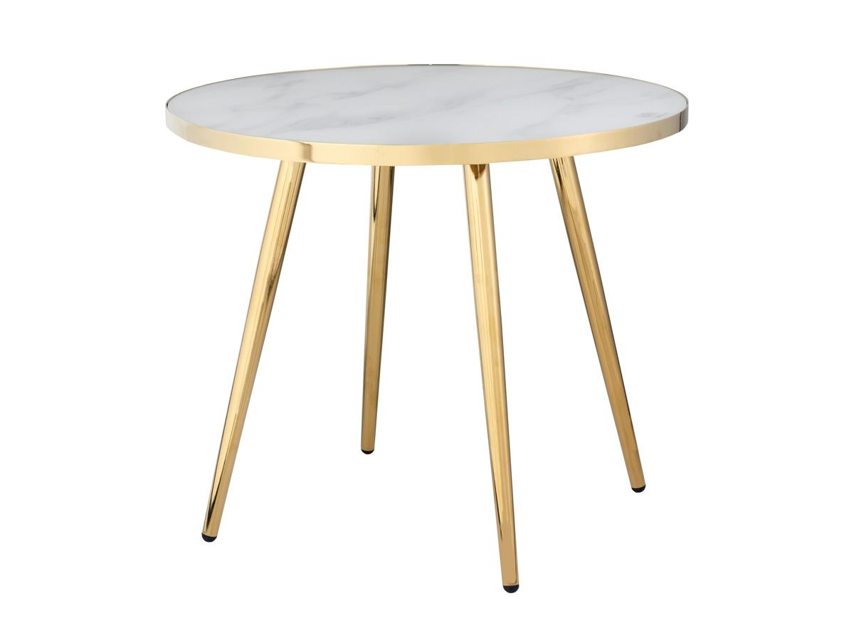 Stolik okrągły Silvia. Stolik pasuje do wnętrz w stylu nowoczesnym i modern classic. Polecamy także stolik z czarnym blatem.