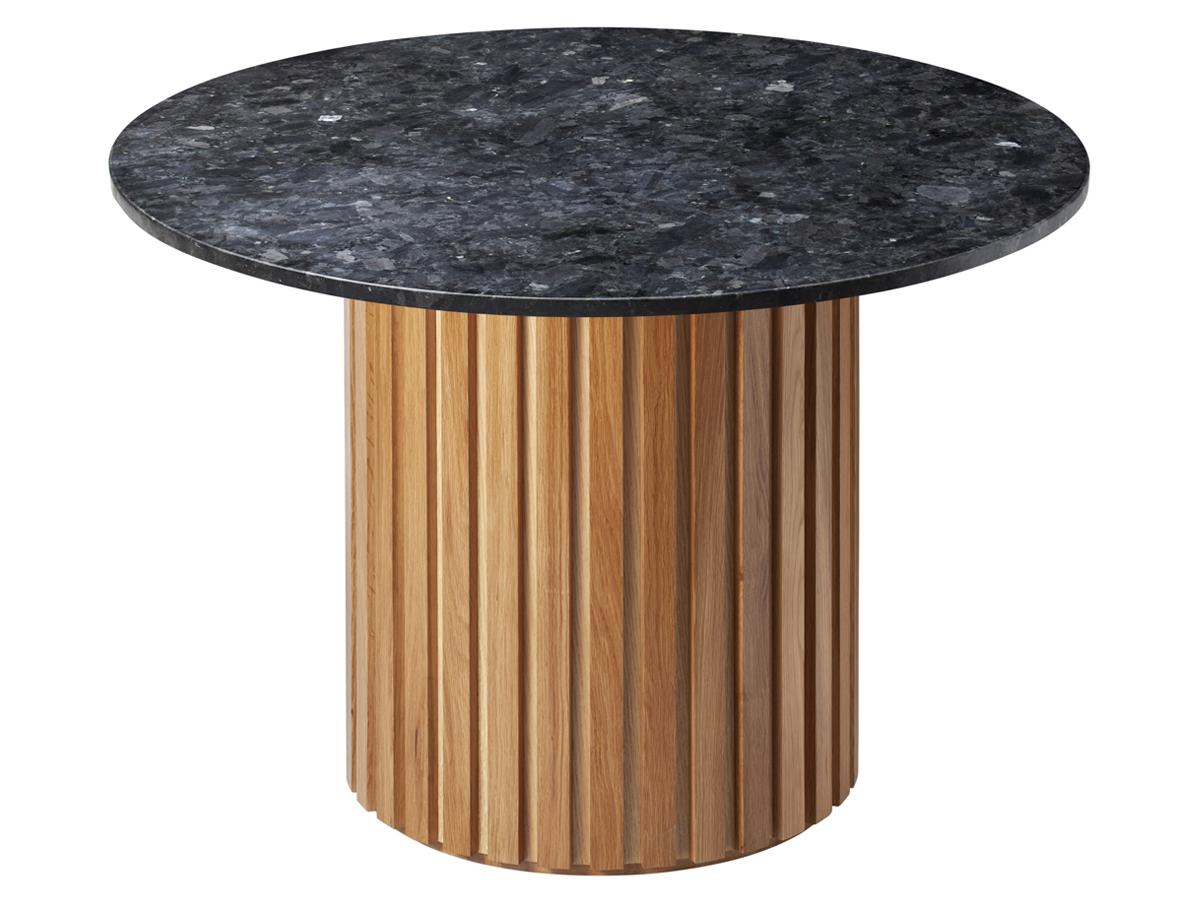 Stół okrągły Granite Oak Ø105cm czarny. Stół dębowy pasuje do jadalni w stylu nowoczesnym i modern classic.
