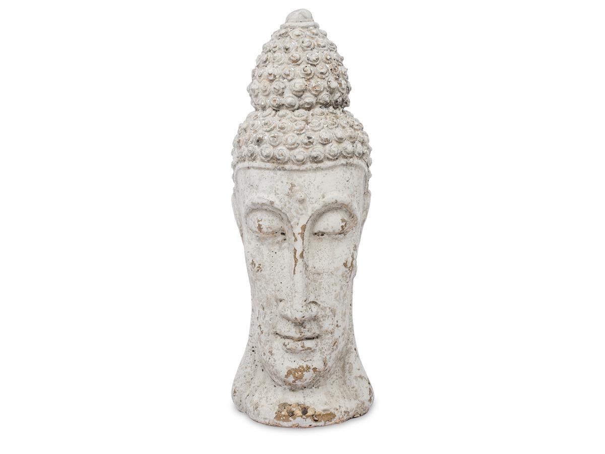 Dekoracja głowa buddy wykonana z cementu.