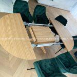 Stół okrągły rozkładany nowoczesny Demi. Zdjęcie udostępnione przez jednego z naszych klientów.