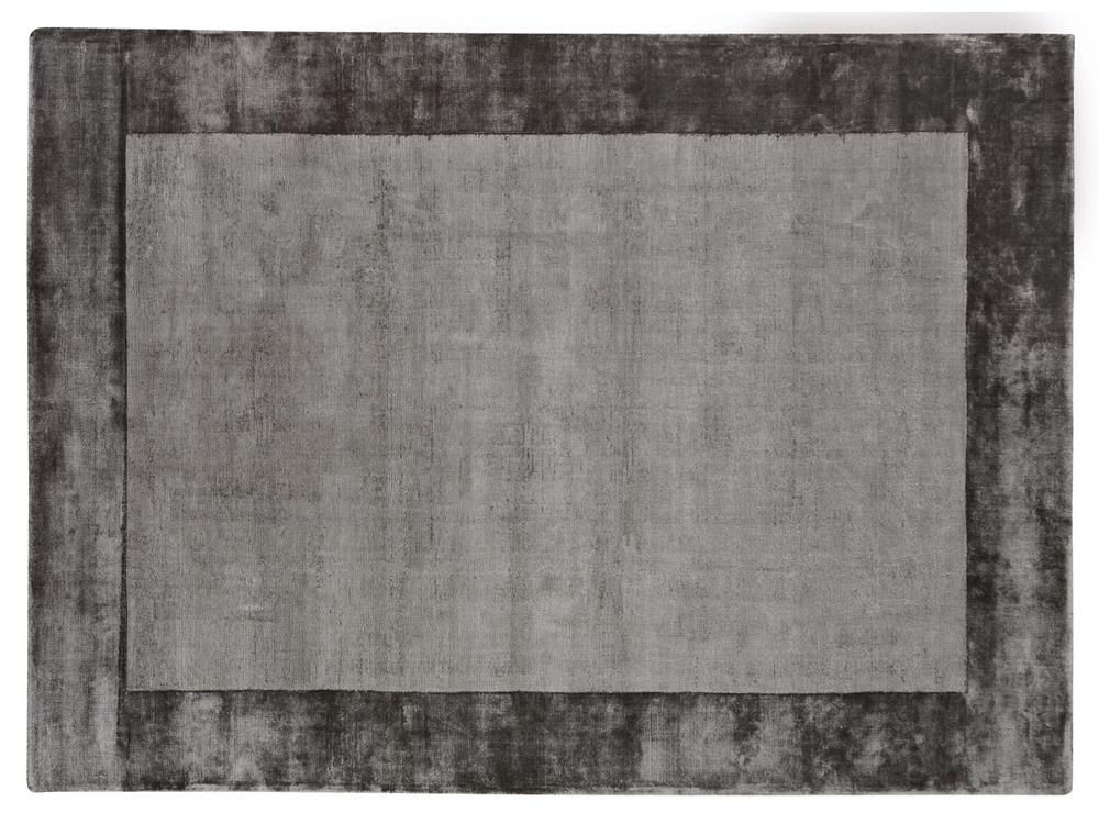 Dywan z wiskozy ręcznie tkany Aracelis Steel Gray stalowy