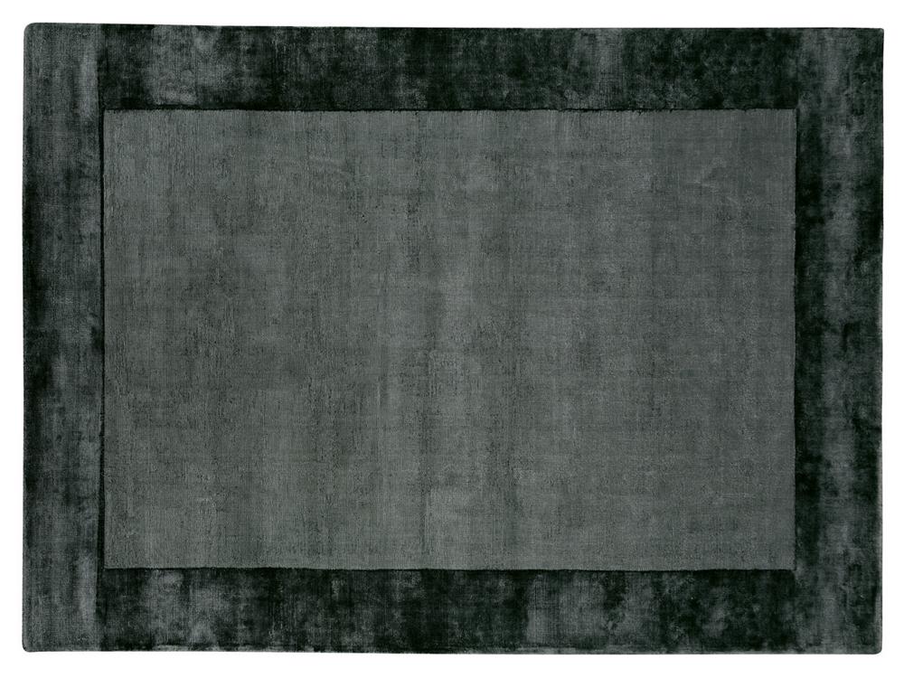 Dywan z wiskozy ręcznie tkany Aracelis Charcoal ciemny szary
