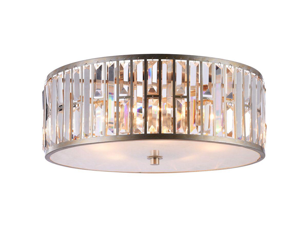 Plafon z kryształkami w stylu glamour Fargo 3.