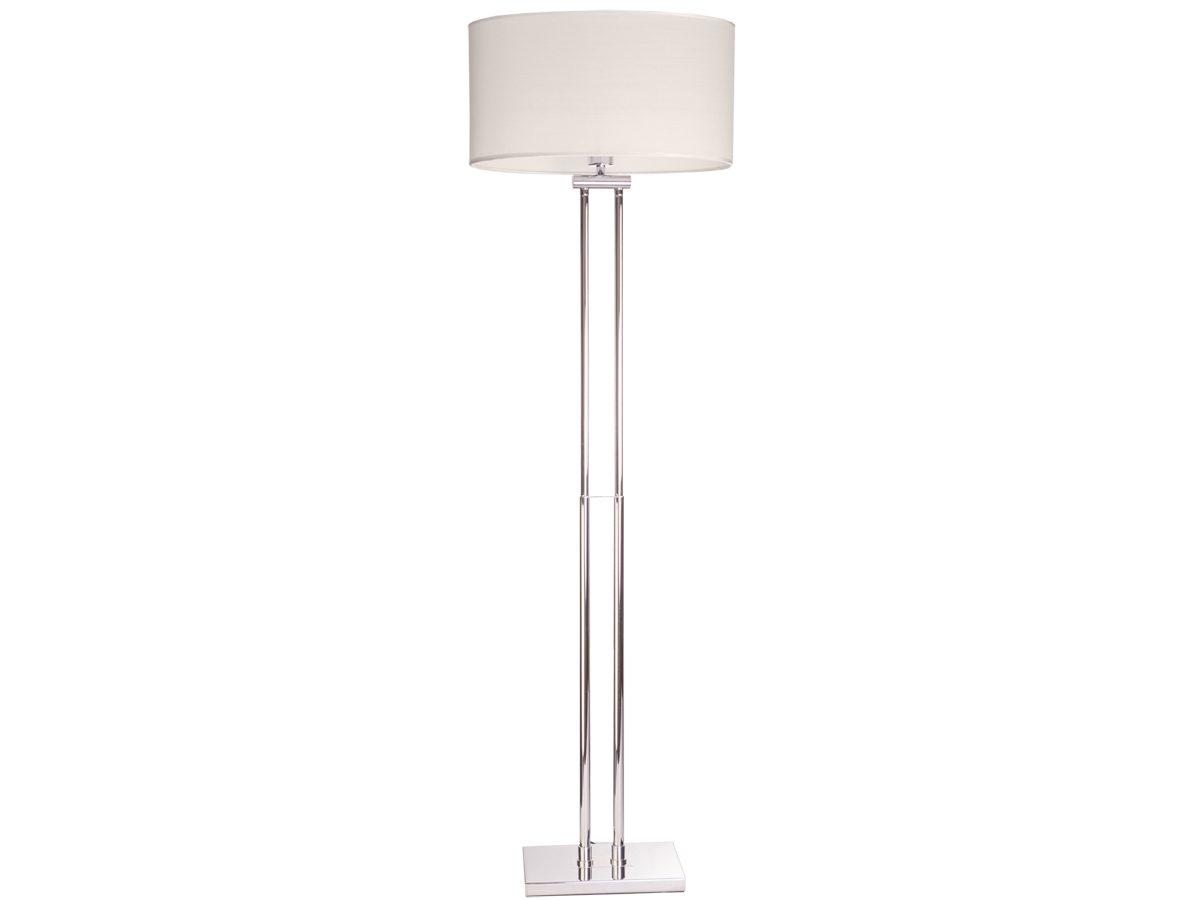 Lampa stojąca z abażurem w stylu nowojorskim.