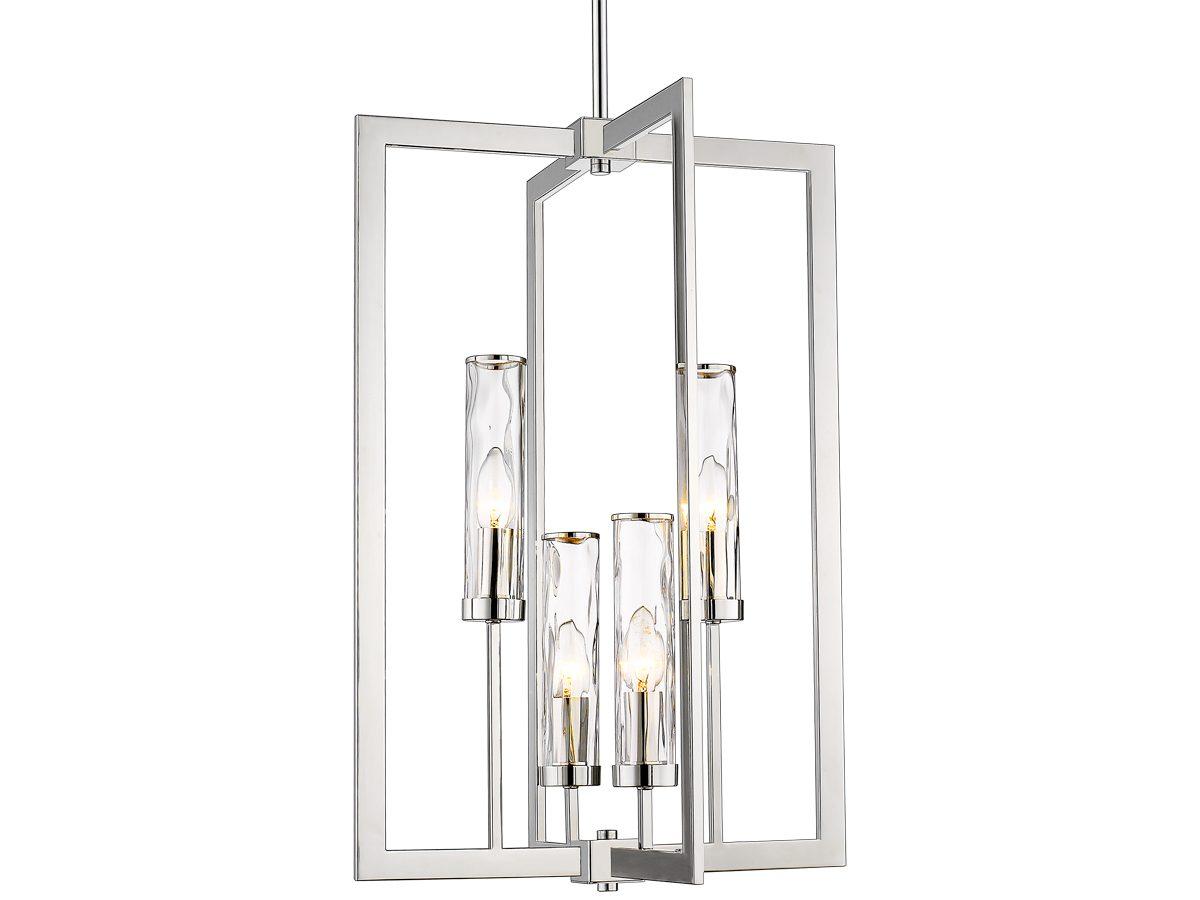 Lampa wisząca szklana Roger 2. Lampa sufitowa pasuje to salonu w stylu nowojorskim oraz Hamptons.