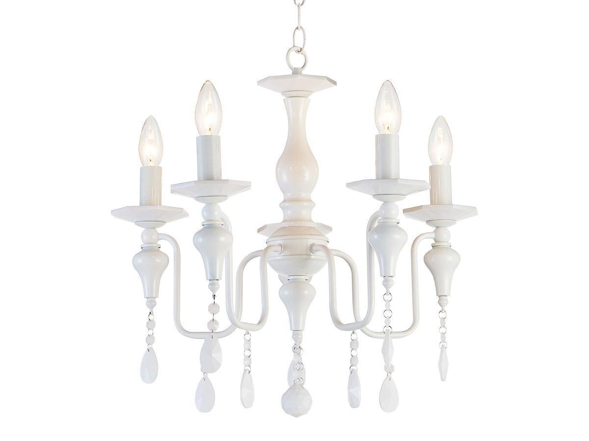 Lampa wisząca z kryształkami w stylu glamour.