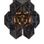 Kinkiet czarny kryształowy z kolekcji Nevada do salonu w stylu glamour.