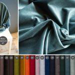 Tkanina obiciowaWelur Francuski to aksamitnie miękkimateriał tapicerski osubtelnym połysku. Wyjątkowo miękki i przyjemny w dotyku o pluszowej strukturze.