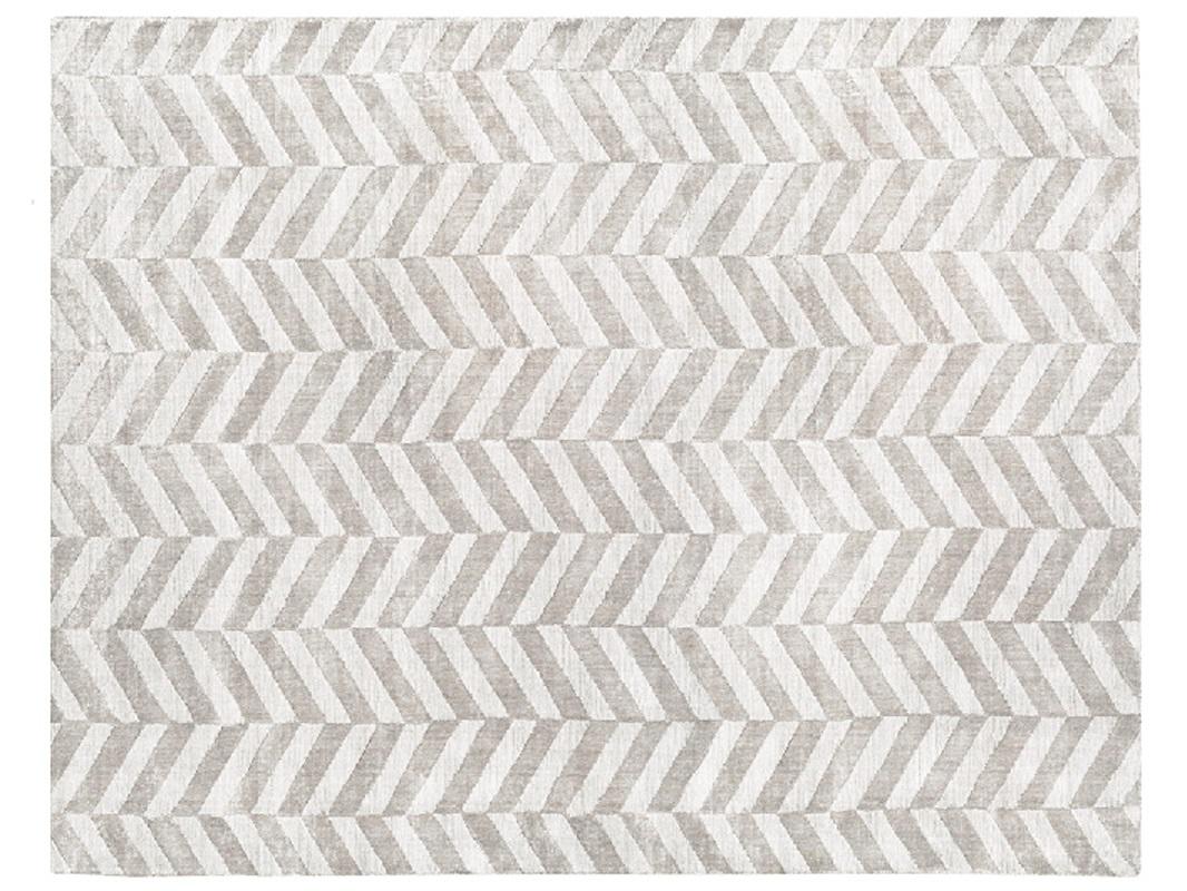 Chwalebne Dywan z wiskozy ręcznie tkany Chelo Silver w jodełkę | Pasadena home SR73