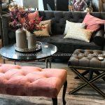 Dywan łatwoczyszczący Canvas Warm Gray z kolekcji Magic Home Fargotex.Dywan do salonu i sypialni w stylu nowoczesnym i glamour.
