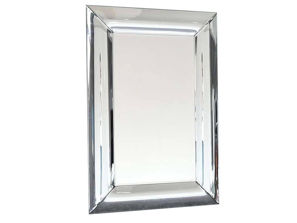 Lustro w lustrzanej ramie Matteo do salonu, sypialni i przedpokoju. Prostokątne lustro na ścianę można zastosować jako lustro dekoracyjne.
