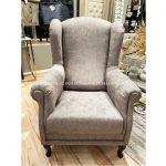 Fotel tapicerowany tkaniną z kolekcji Macieja Zienia. Fotel wypoczynkowy do salonu i sypialni, a także idealny fotel do karmienia.