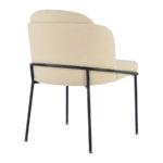 Krzesło tapicerowane Perla do wnętrz stylu nowoczesnym i modern classic. Krzesło tapicerowane do jadalni, salonu i toaletki.