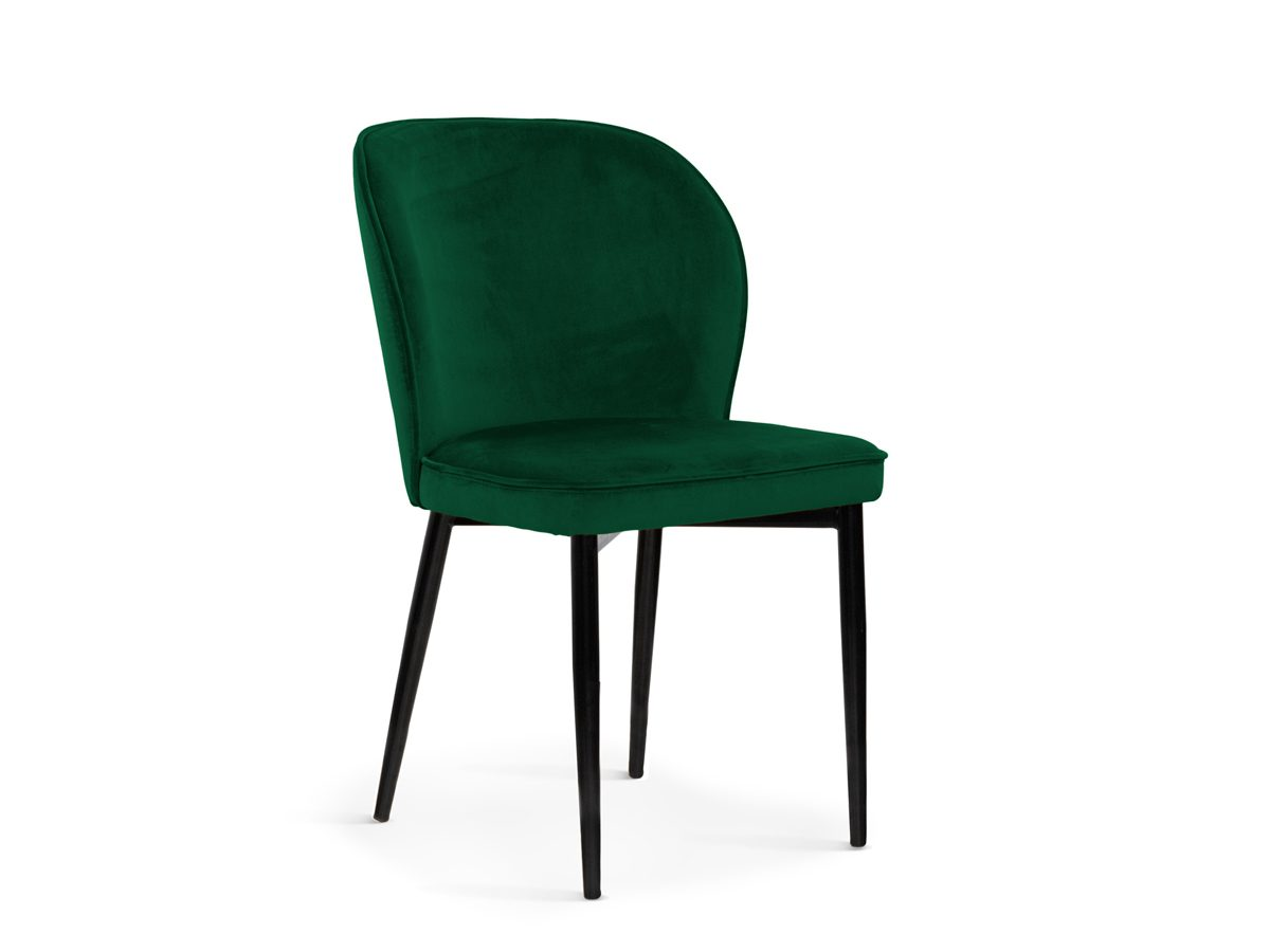Nowoczesne krzesło do jadalni Marilyn. Krzesło welurowe zielone do nowoczesnej jadalni. Krzesła tapicerowane na zamówienie Białystok.