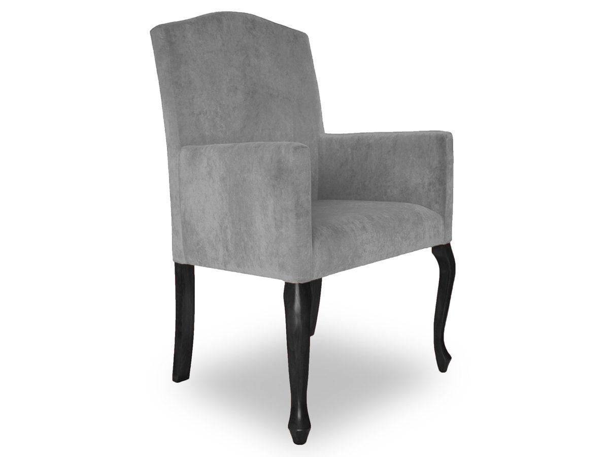 Fotel tapicerowany z podłokietnikami Gael. Fotele tapicerowane mają możliwość personalizacji – po wybór innej tkaniny zapraszamy do kontaktu mailowego lub telefonicznego.