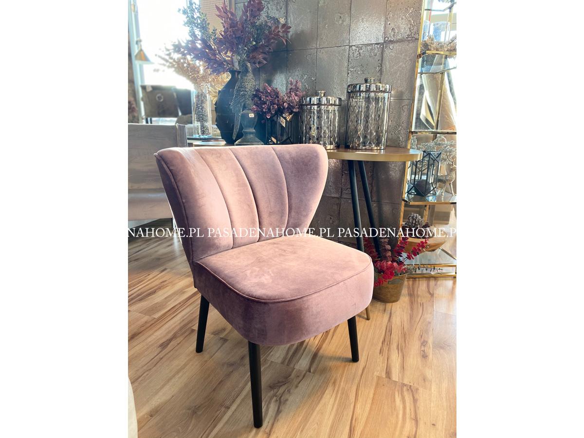 Fotel klubowy tapicerowany aksamitem.Fotel do salonu lub sypialni w stylu nowoczesnym. Meble tapicerowane producent polski.