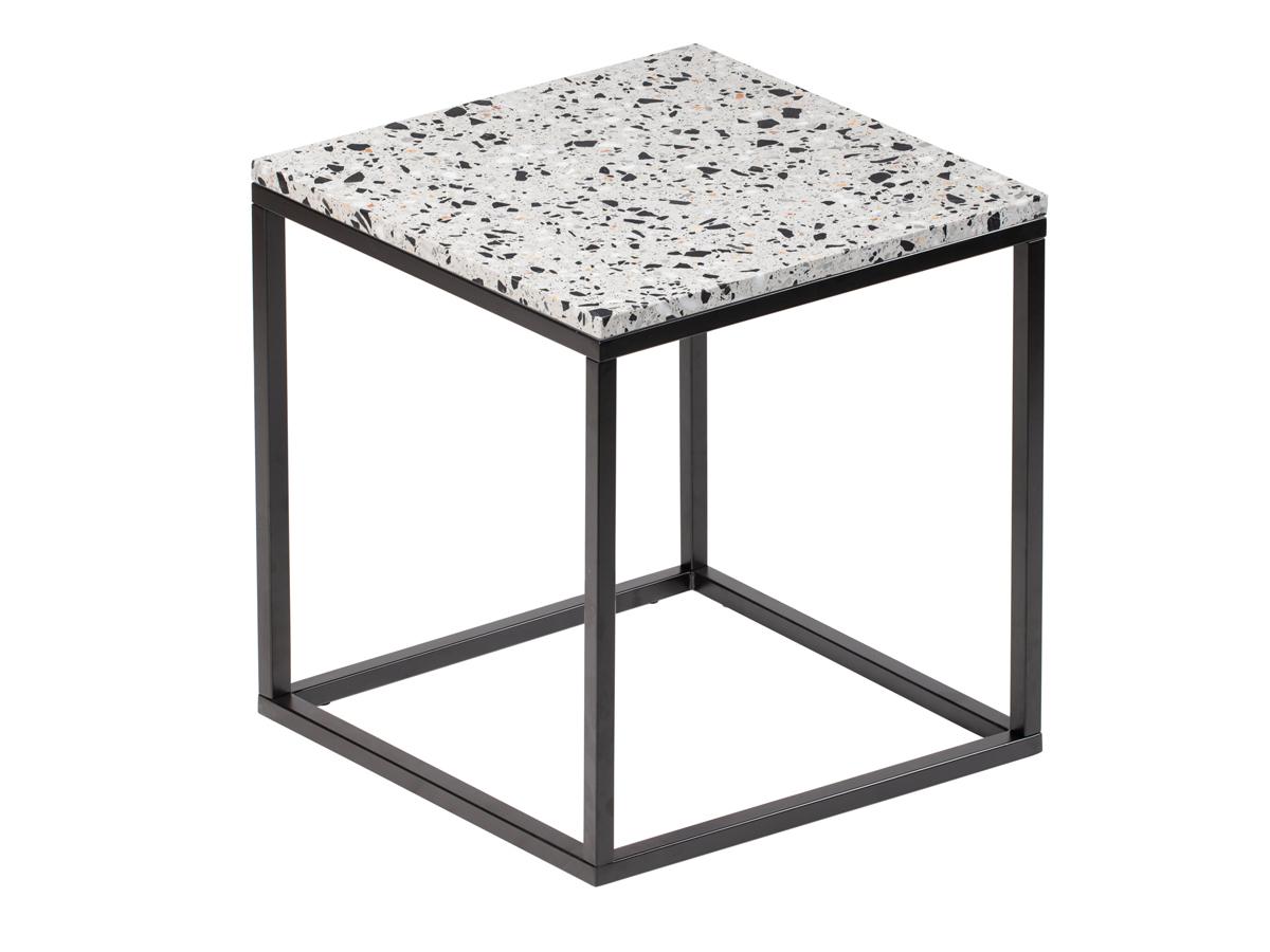Stolik kawowy kwadratowy Terazzo Black 50 cm. Stolik pasuje do wnętrz w stylu nowoczesnym i modern classic. Polecamy także okrągłe stoliki kawowe.