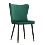 Krzesło nowoczesne Milo na drewnianych nogach.