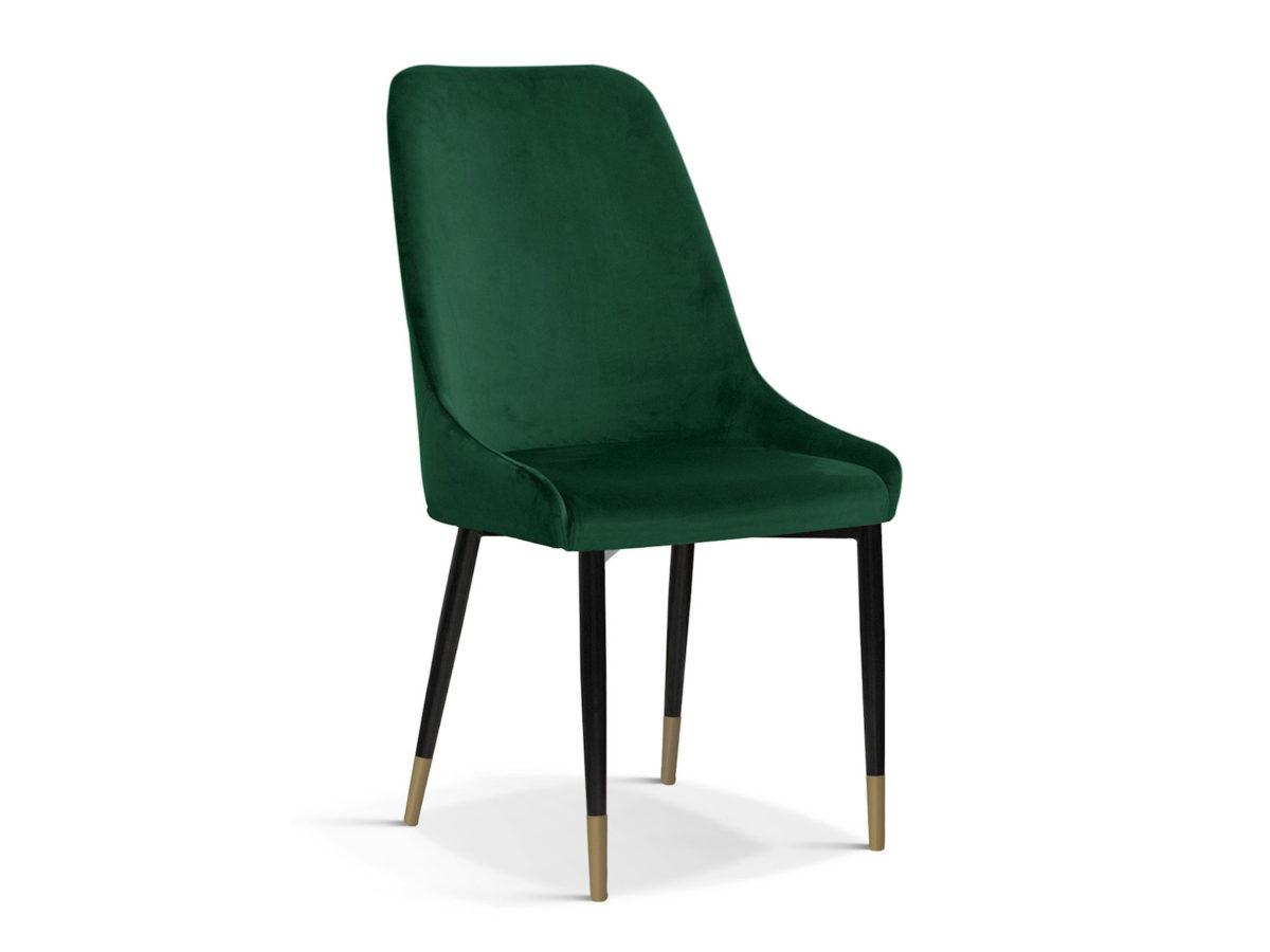 Nowoczesne krzesło tapicerowane Massimo do jadalni i salonu. Krzesła ze złotymi nogami są dostępne na zamówienie w showroomie Pasadena home & deco.