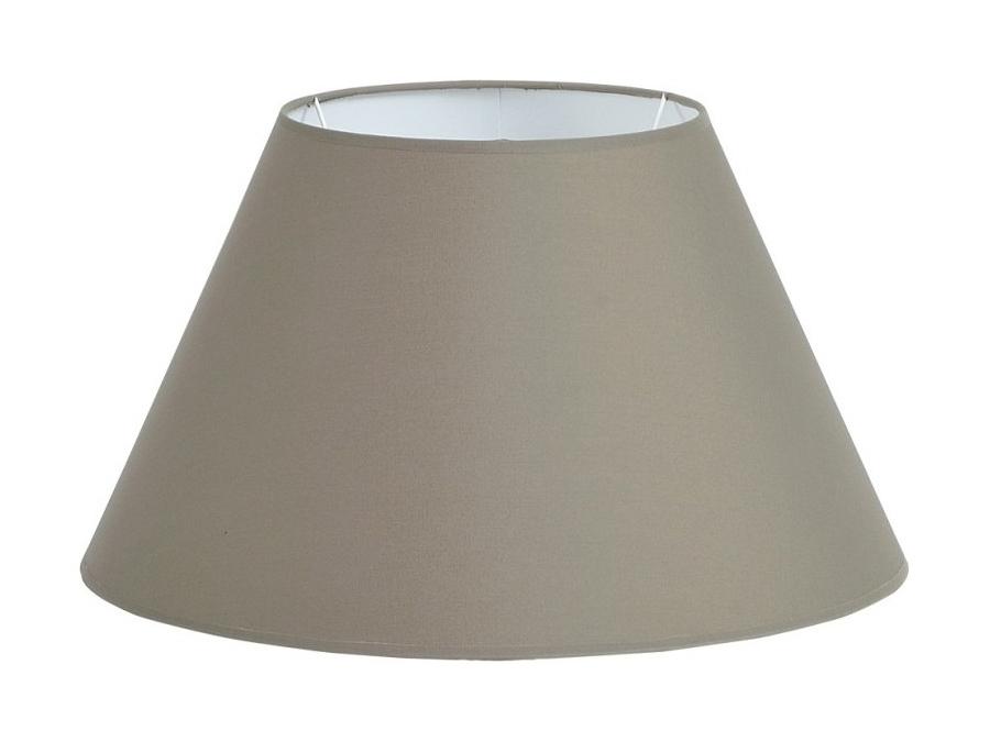 Szary abażur do lampy stołowej w kształcie stożka. Idealnie uzupełni pomieszczenie klasyczne, modern classic lub New York i Hamptons.