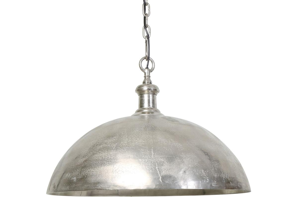 Lampa metalowa Ava w stylu nowoczesnym. Srebrna lampa nad stół, do salonu, holu lub restauracji. Nowoczesne lampy wiszące Białystok.