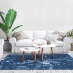 Dywan łatwoczyszczący Atlantic Bluez kolekcji Magic Home Fargotex.Dywan do salonu i sypialni w stylu nowoczesnym i glamour.