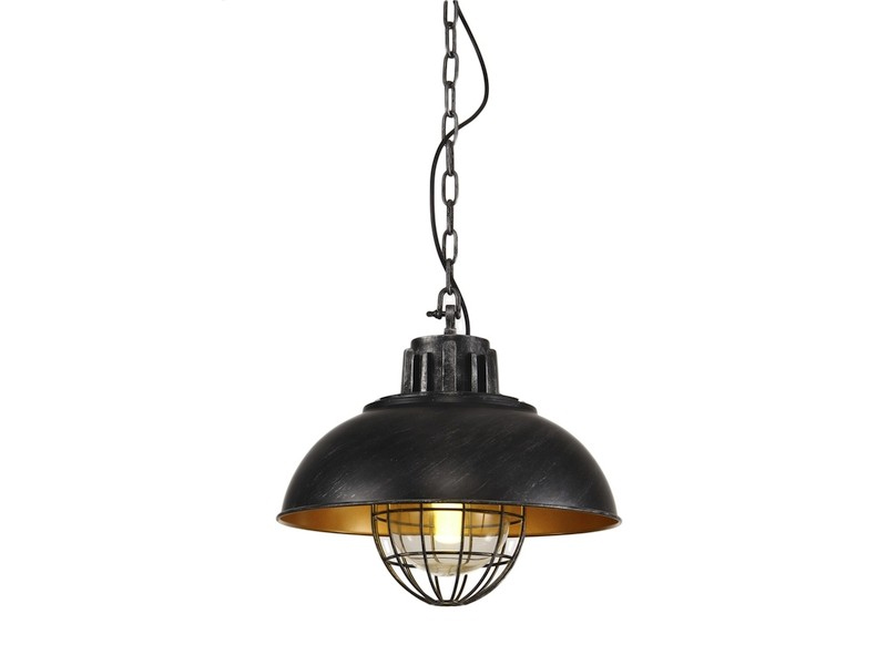Lampa wisząca industrialna Barn czarna