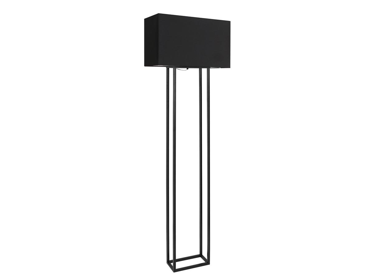 Lampa podłogowa czarna Bruce w stylu klasycznym i modern classic. Oświetlenie podłogowe do salonu, sypialni lub przedpokoju.