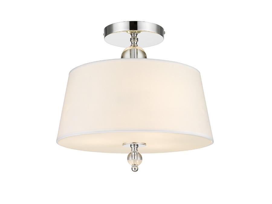 Plafon sufitowy Persian do salonu lub sypialni w stylu nowojorskim lub nowoczesnym. Lampa sufitowa z abażurem i kryształkami.