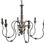Żyrandol świecznikowy Vintage B pasuje do salonu lub przedpokoju w stylu rustykalnym oraz vintage. Eleganckie lampy wiszące na zamówienie.