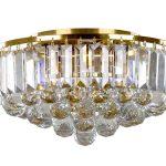 Plafon kryształowy Callie w stylu glamour. Oświetlenie sufitowe do salonu, holu, restauracji, hotelu. Idealny do wnętrz także o niskich sufitach.