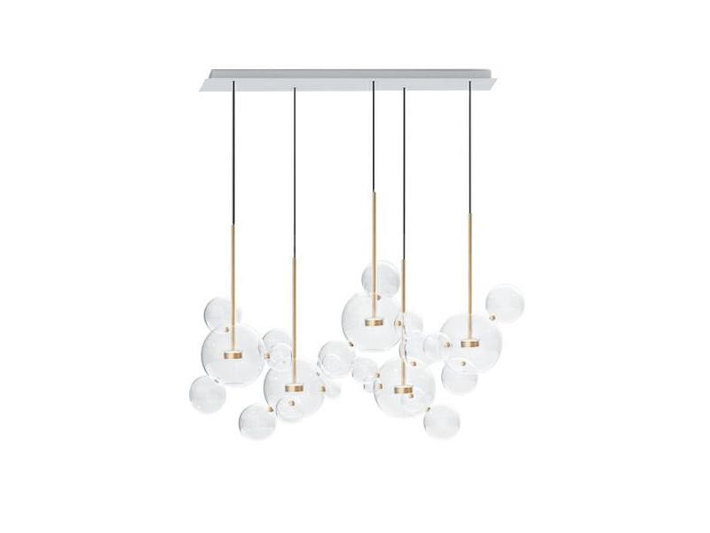 Lampa wisząca kule Bulle 5A inspirowana projektem Bubble Chandelier.Lampa sufitowa do salonu i jadalni w stylu nowoczesnym lub nowojorskim.