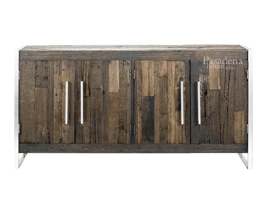 Komoda do sypialni Erie pasuje wnętrz w stylu nowoczesnym. Nowoczesna komoda na metalowych nogach wykonana z drzewa z recyklingu.