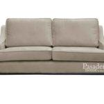 Sofa nowoczesna Kimberly o minimalistycznym designie. Sofa welurowa na drewnianych nogach. Możliwość wyboru tkaniny.