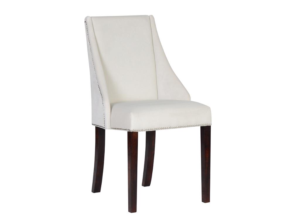 Krzesło do sypialni Marisol do wnętrz stylu nowoczesnym oraz modern classic. Krzesło tapicerowane z możliwością wyboru tkaniny.