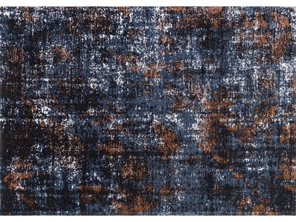 Dywan łatwoczyszczący Flame Rusty Blue z kolekcji Magic Home Fargotex.Dywan do salonu i sypialni w stylu nowoczesnym i glamour.
